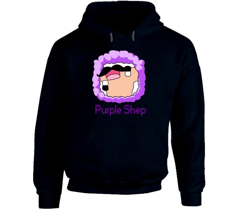 Purple Shep Exploding TNT Minecraft Character Fan Faded Look T Shirt