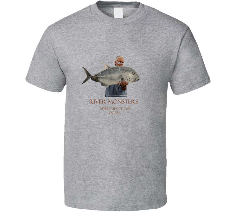 River Monsters Fishing Jeremy Wade Giant Trevelly Worn Look T Shirt