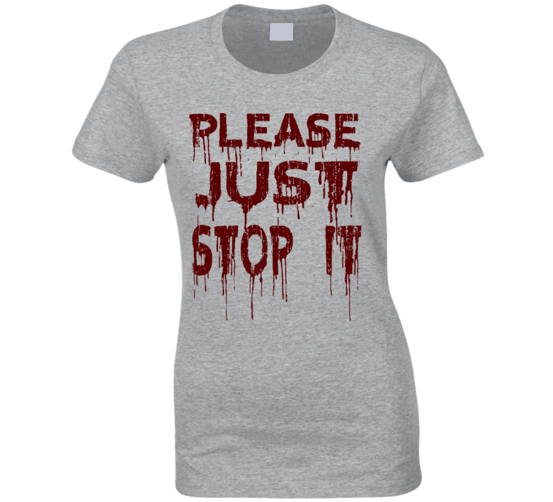 Just Stop it Please Justice for Black Lives Worn Look Ladies T Shirt