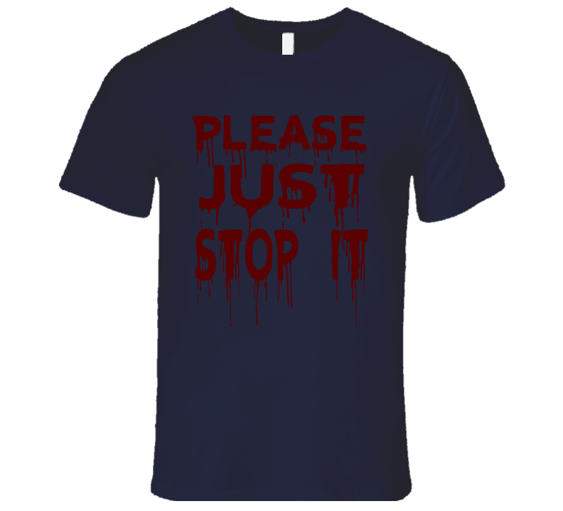Please Just Stop Protect and Serve Don't Shoot Faded Look Mens Fitted T Shirt