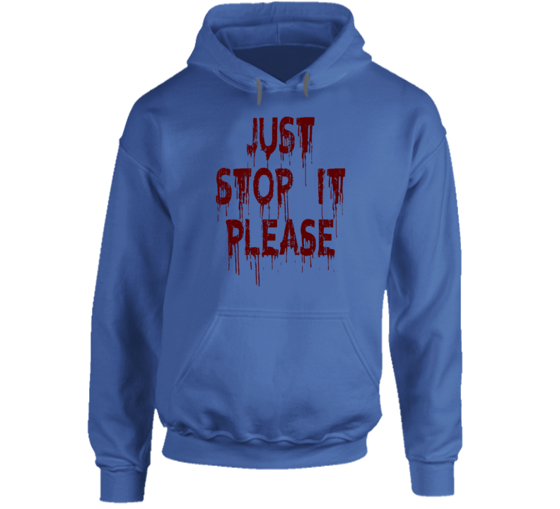 Just Stop It Please Don't Shoot Alton Sterling Matter Worn Look Hoodie