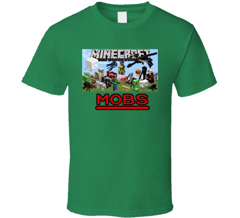 Minecraft Animals Mobs Video Game T Shirt