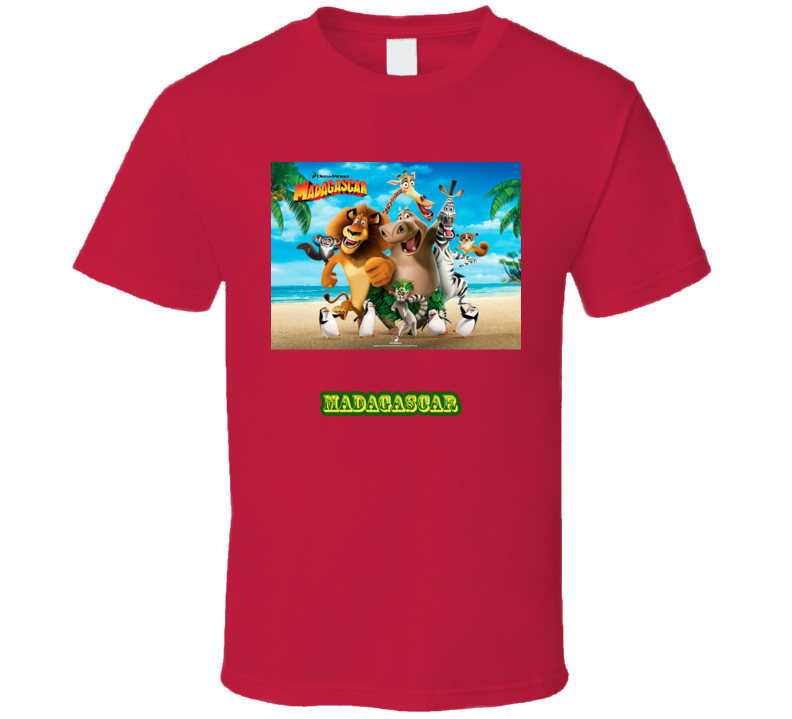 Madagascar Movie Poster T Shirt