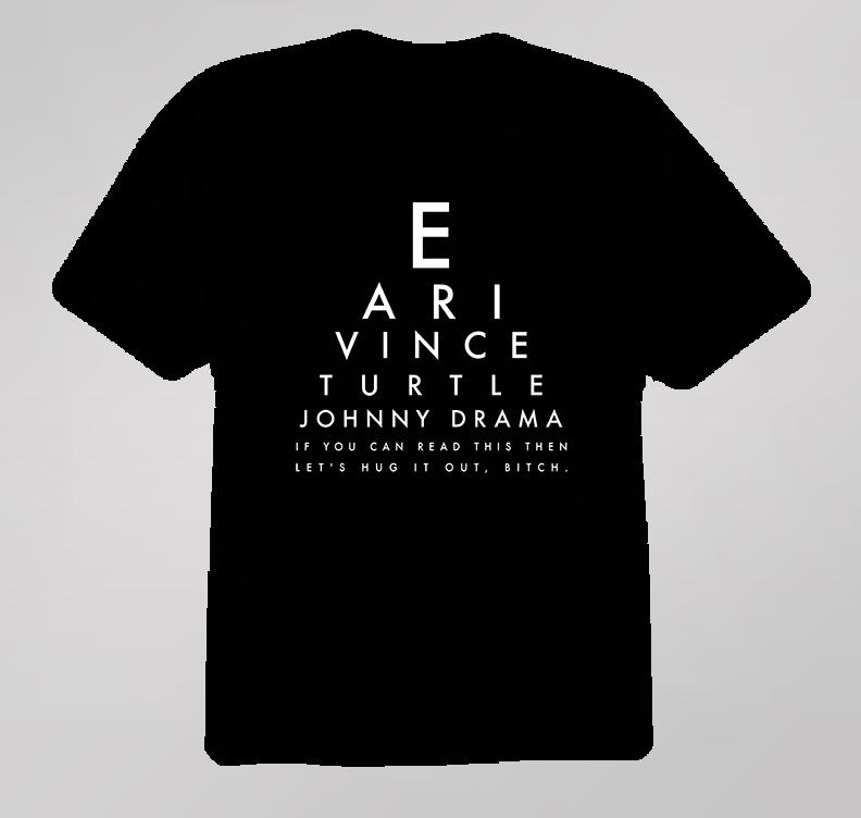 Eye Exam Entourage Tv Show Hbo Comedy T Shirt