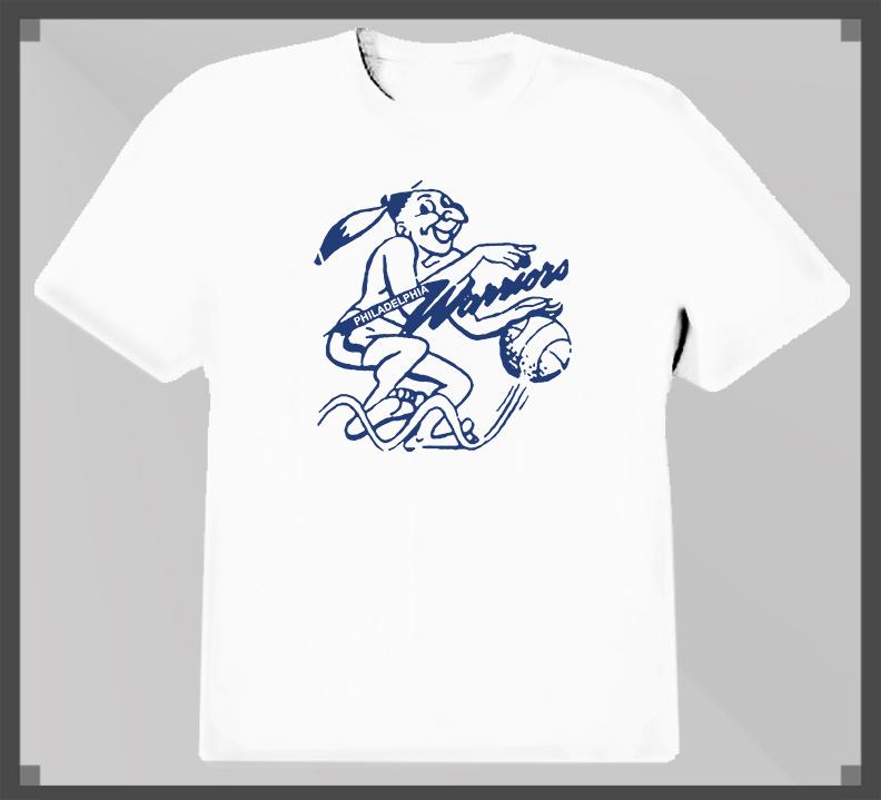 Philadelphia Warriors Classic Basketball Logo T Shirt