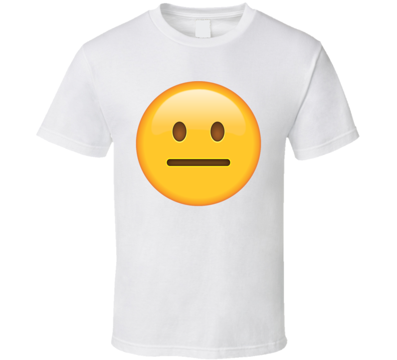 Neutral Face Emoji t shirt