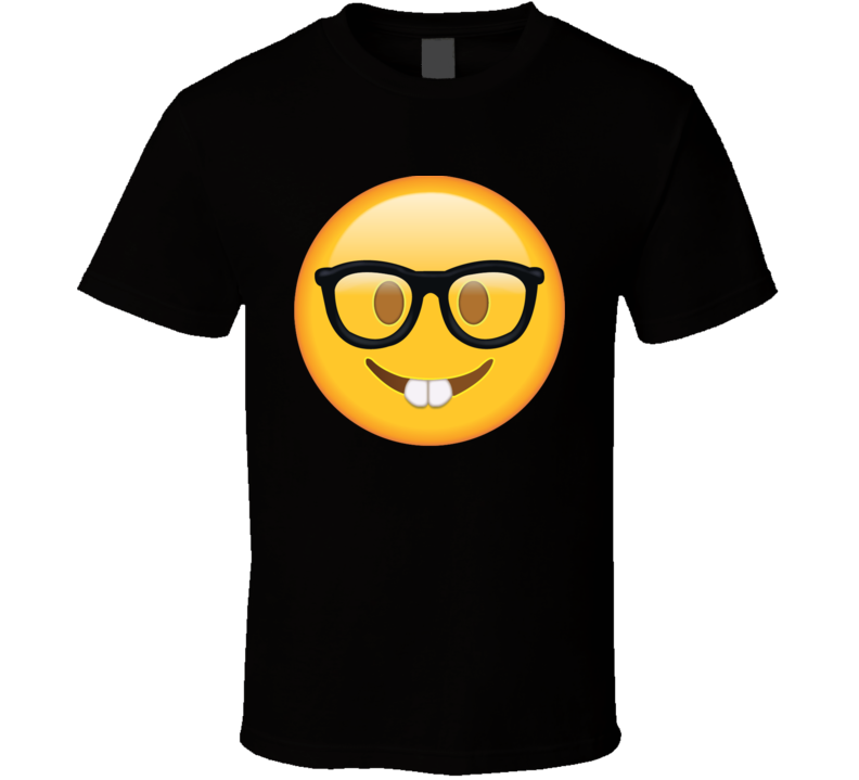 Nerd with Glasses Emoji t shirt