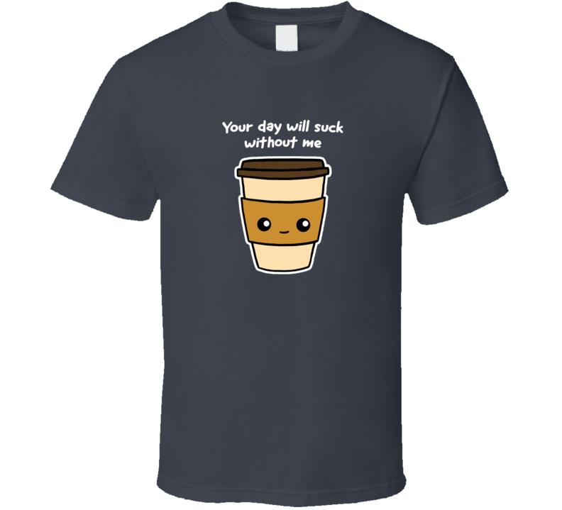 Caffeine Addiction Needs Smug Coffee Cup Funny A.pig.in.shirt T Shirt