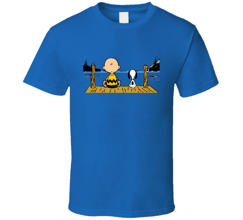 Snoopy Charlie At The Lake Charlie Brown A Pig In Shirt