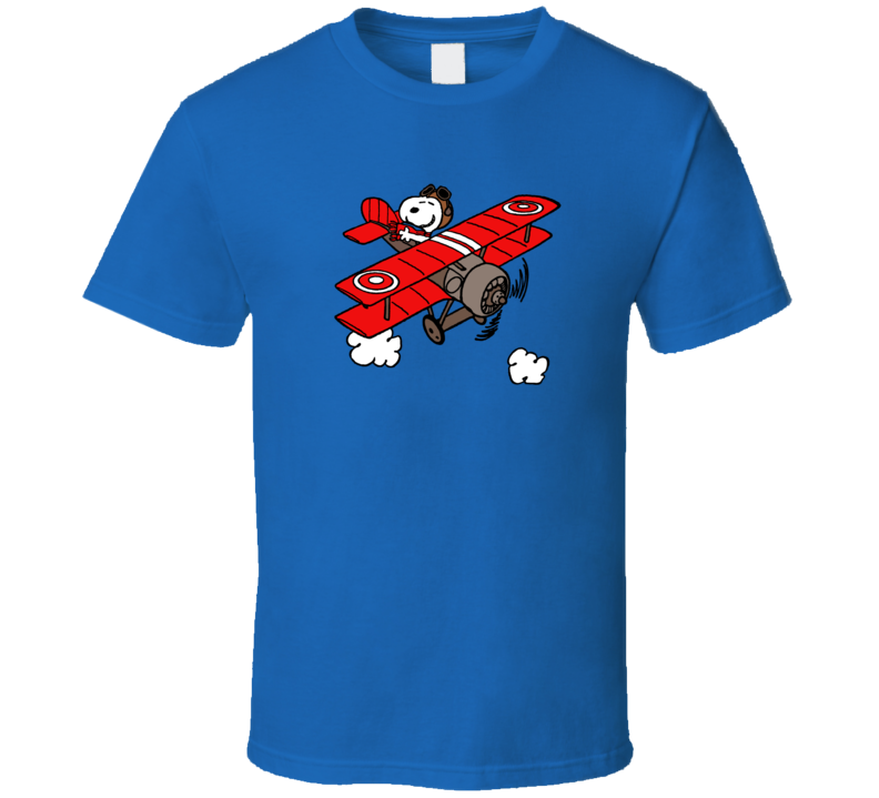Snoopy Pilot Airplane Charlie Brown A Pig In Shirt