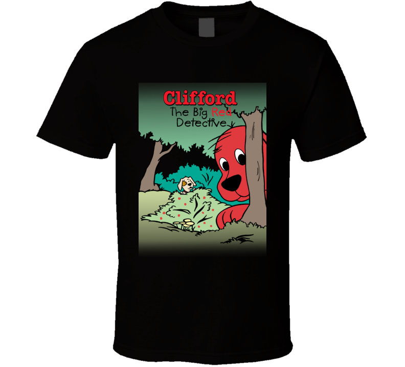 Big Red Detective Clifford Big Red Dog A Pig In Shirt