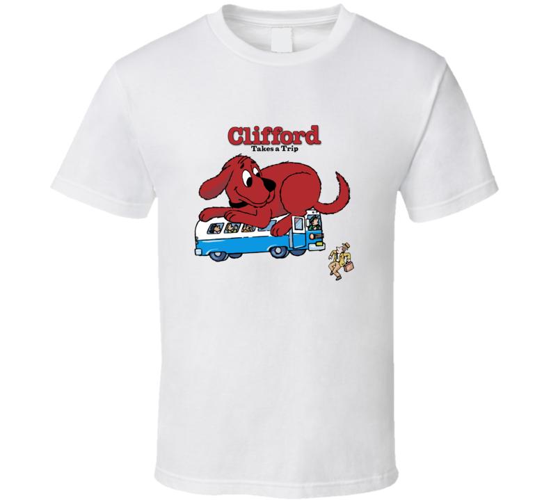 Clifford Takes Trip Clifford Big Red Dog Pig In Shirt