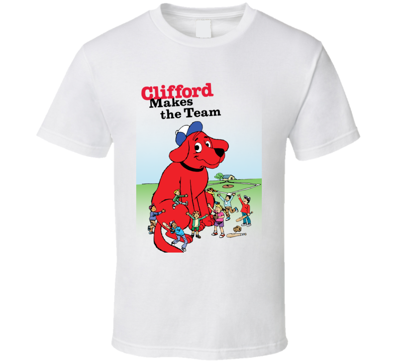 Clifford Makes The Team Clifford Big Red Dog Pig In Shirt