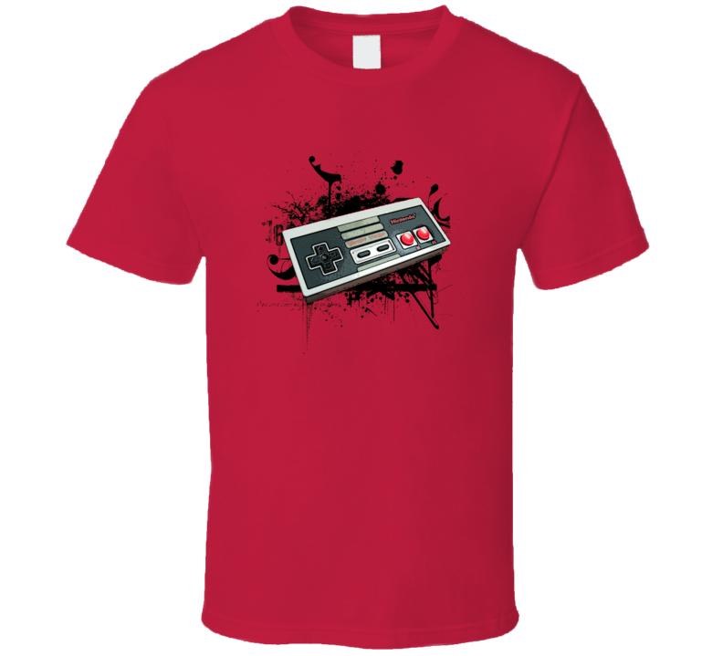 Ninteno Controller Retro Splatter Video Game Pig In Shirt
