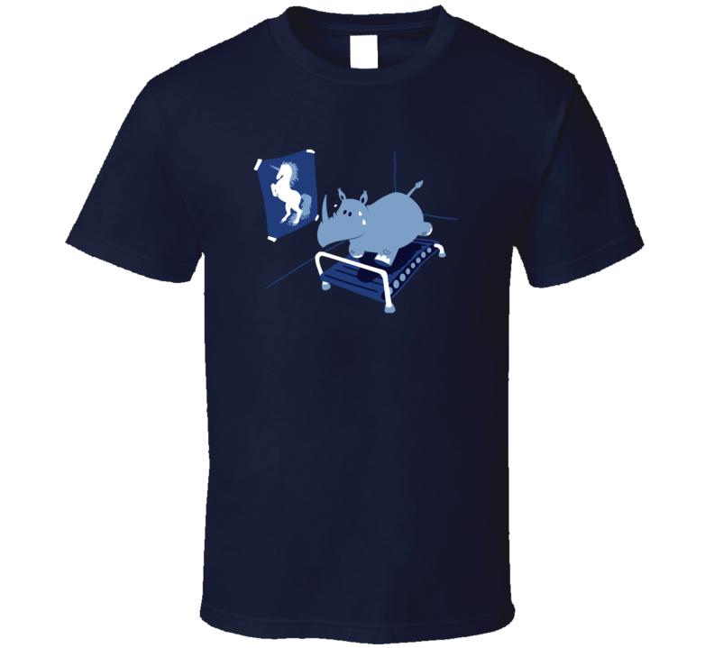 Rhino Treadmill Dreams Of Unicorns Pig In Shirt