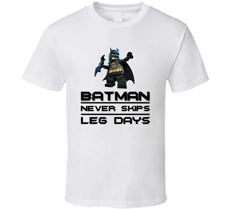 Never Skip Leg Days Makes Batman Pig In Shirt