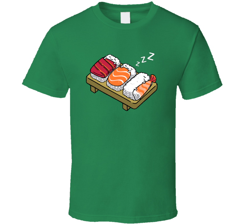 Sushi Napping Sleeping Food Cuddling Funny Cute Pig In Shirt