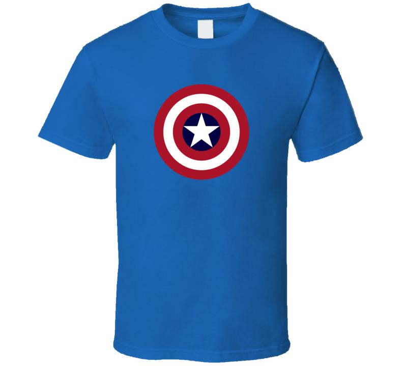Captain America Shield Comic Pig In Shirt