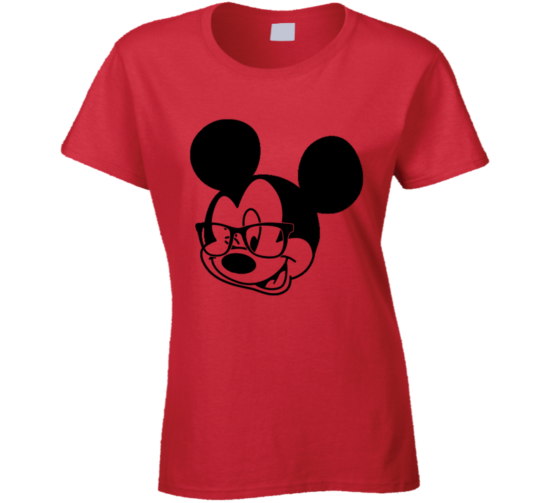 Mickey Nerd Glasses Wink Cute Mouse Geek Graphic T Shirt