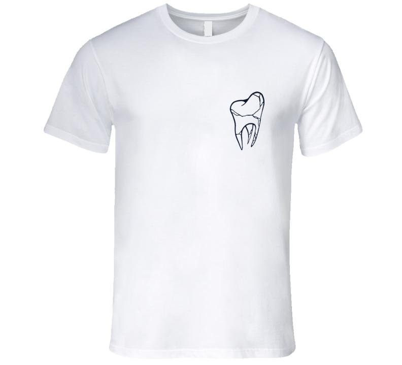 Cracked Tooth Popular Fun Grunge Graphic Tee Shirt