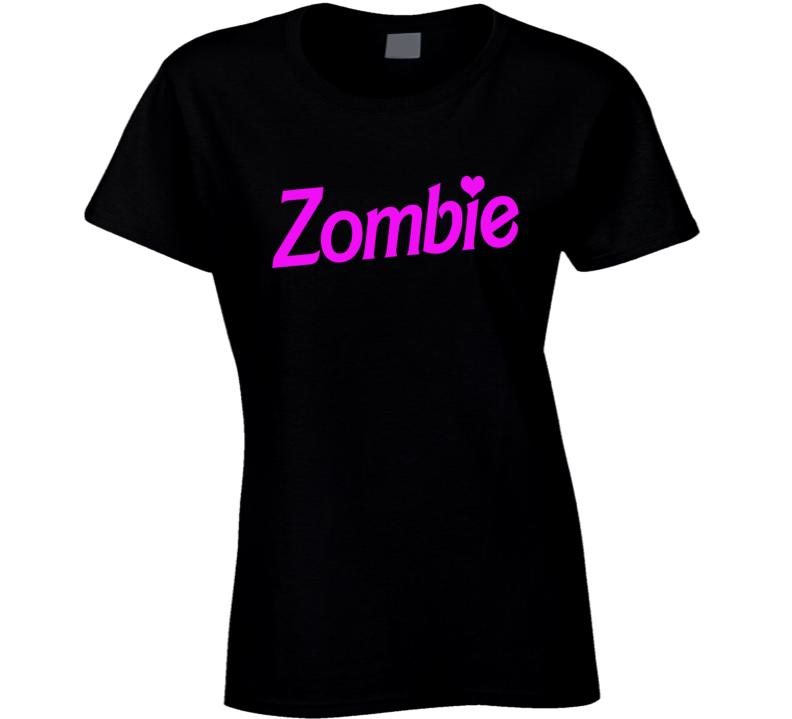 Zombie Fun Halloween Costume Barbie Parody T Shirt