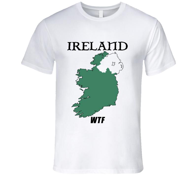 Ireland WTF Funny Parody Northern Ireland Boxing T Shirt