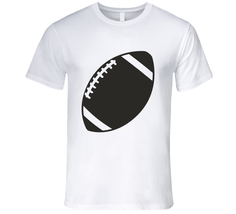 American Football Black and White Silhouette Iconic Sports T Shirt