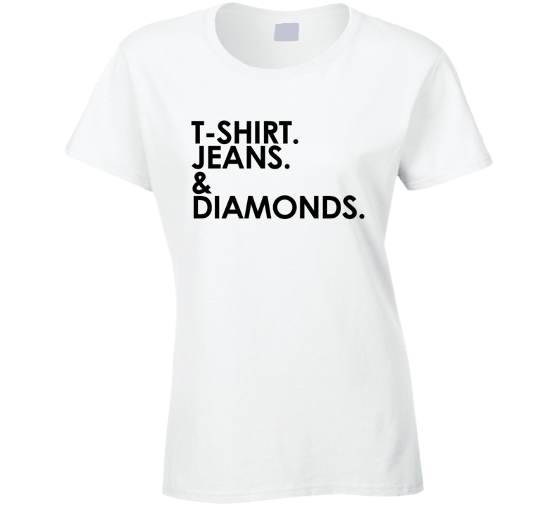 Shirt Jeans And Diamonds Fun Graphic T Shirt