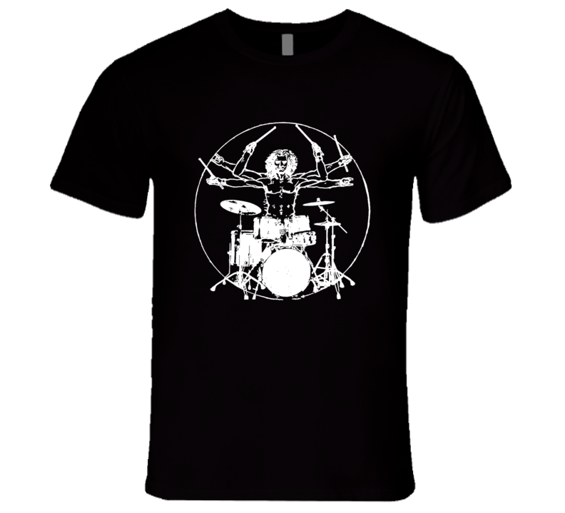 Da Vinci Theory Rock N Roll Drummer Fun Drum T Shirt