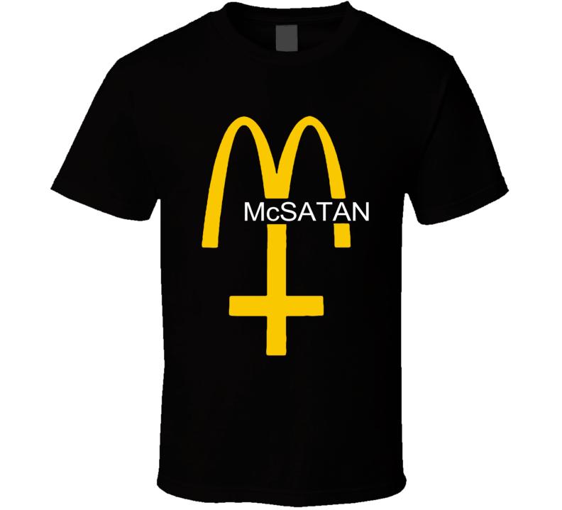 McSatan Funny Fast Food Satan Parody Graphic T Shirt