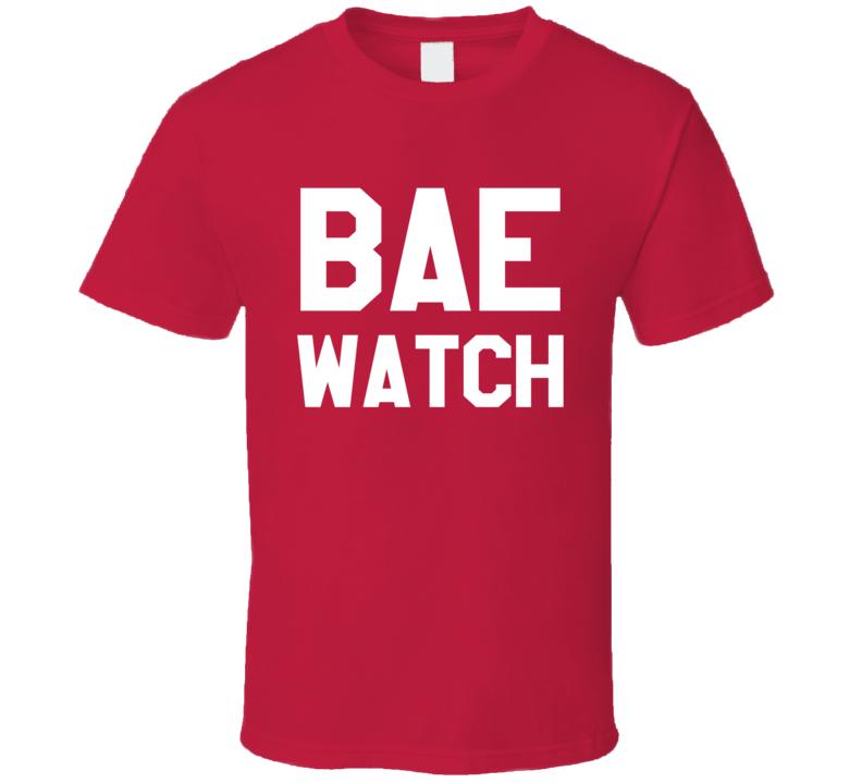 Bae Watch Funny Bay Watch Parody Graphic Tee Shirt
