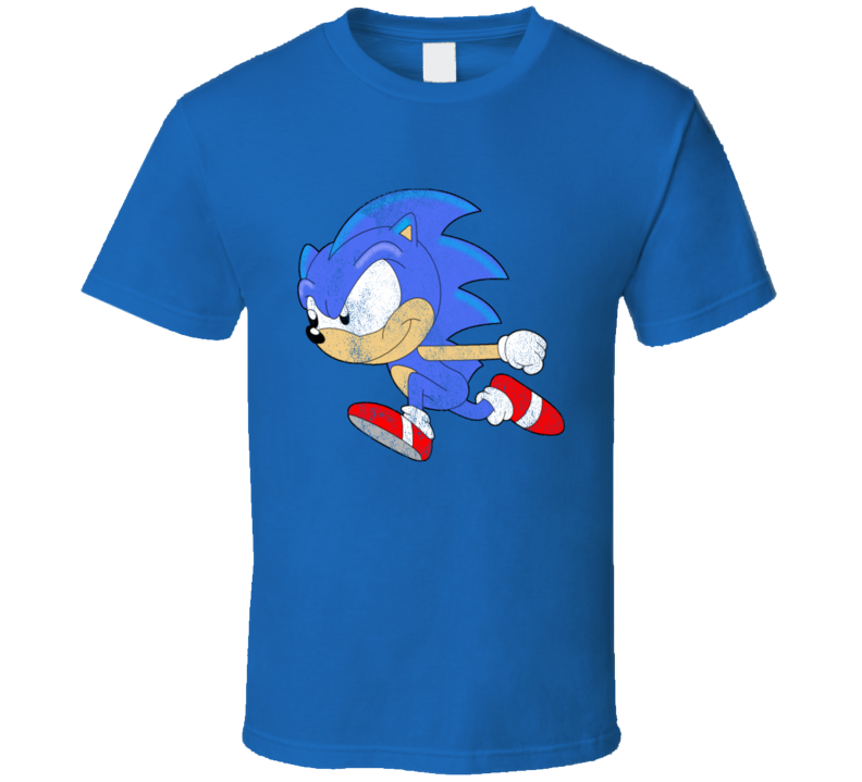 Vintage Sonic Video Game Fun Hedgehog Graphic Tee Shirt