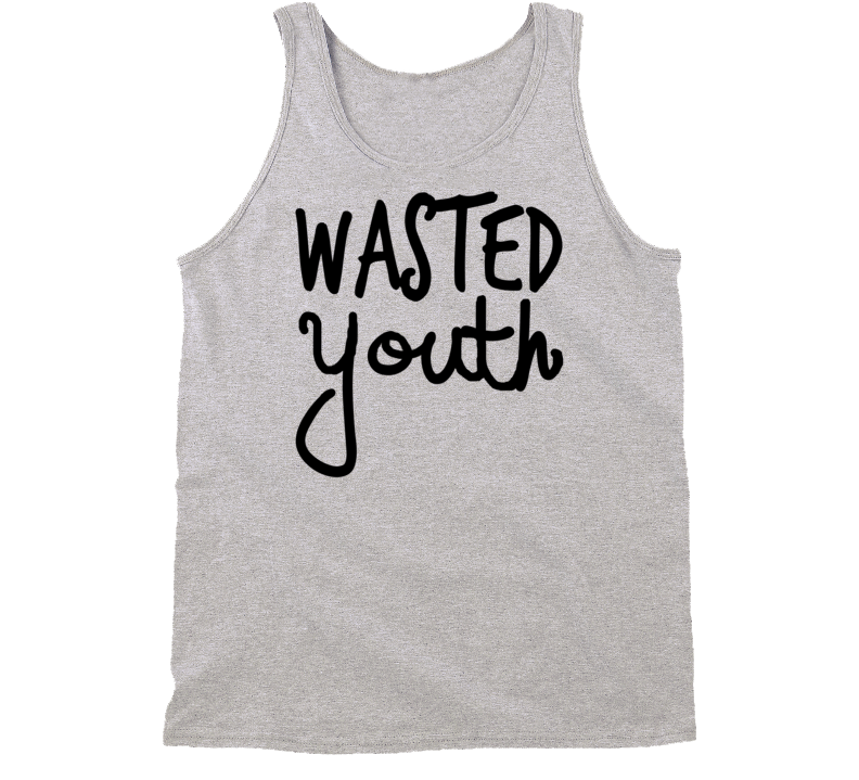 Wasted Youth Popular Wiz Rap Hip Hop Music Graphic Tank Shirt