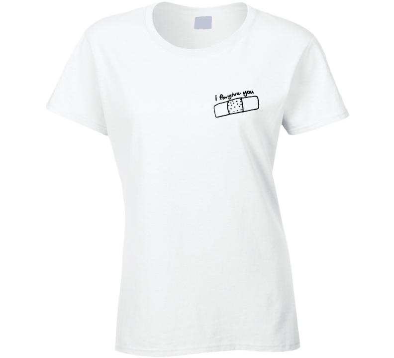 I Forgive You Graphic Love Heart Bandaid Fun Tee Shirt