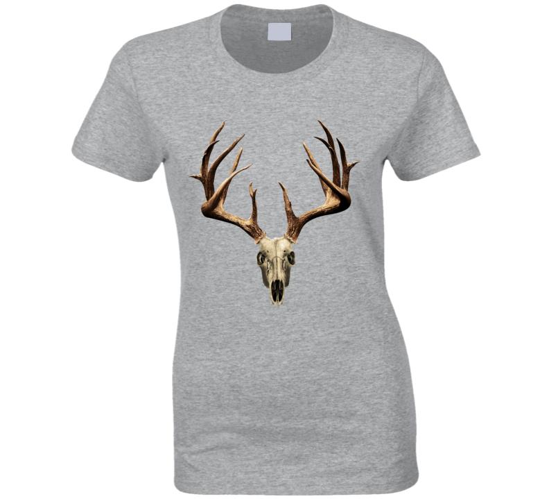 Deer Antlers Skull Fun Popular Graphic Tee Shirt