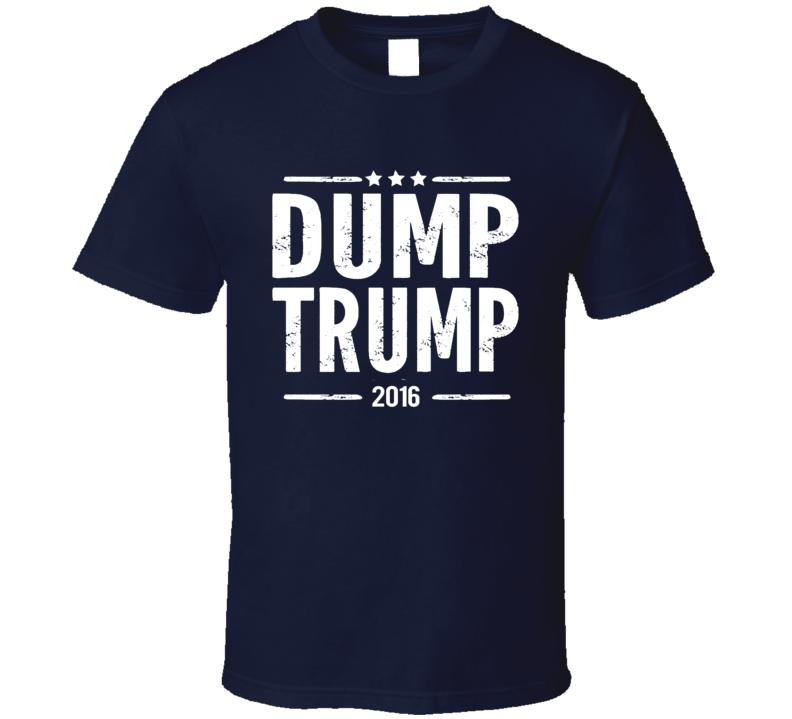 Dump Trump 2016 American US Political Election Graphic T Shirt