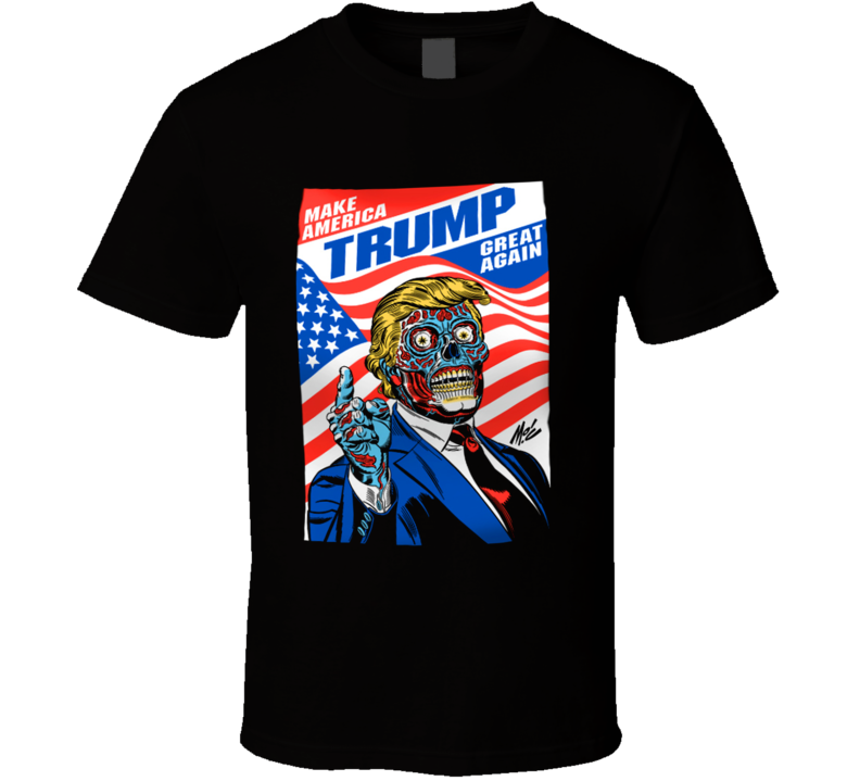 Make America Great Again Trump Robot Scary American Politics Graphic T Shirt