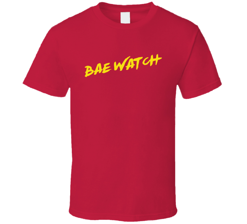 Bae Watch Funny Baywatch Parody Popular TV Show T Shirt