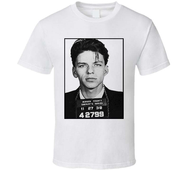 Frank Sinatra Vintage Mug Shot Grunge Graphic T Shirt