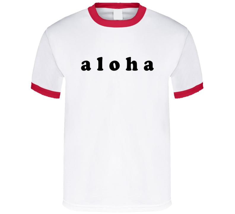 Aloha Hawaii Hello Goodbye Fun Graphic T Shirt
