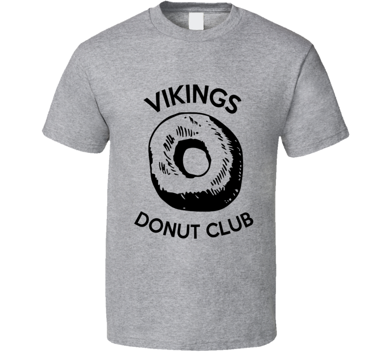 Vikings Donut Club Fun Game Food Graphic T Shirt