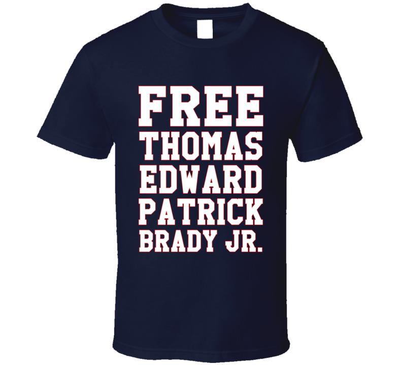 Free Thomas Edward Patrick Brady Jr Fun New England Football Quarterback Tom Graphic T Shirt