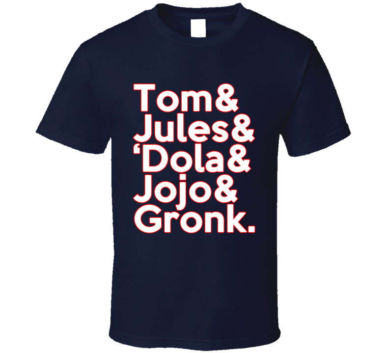 Tom Brady Julian Edelman Gronk Dola Jojo Roll Call New England Football T Shirt