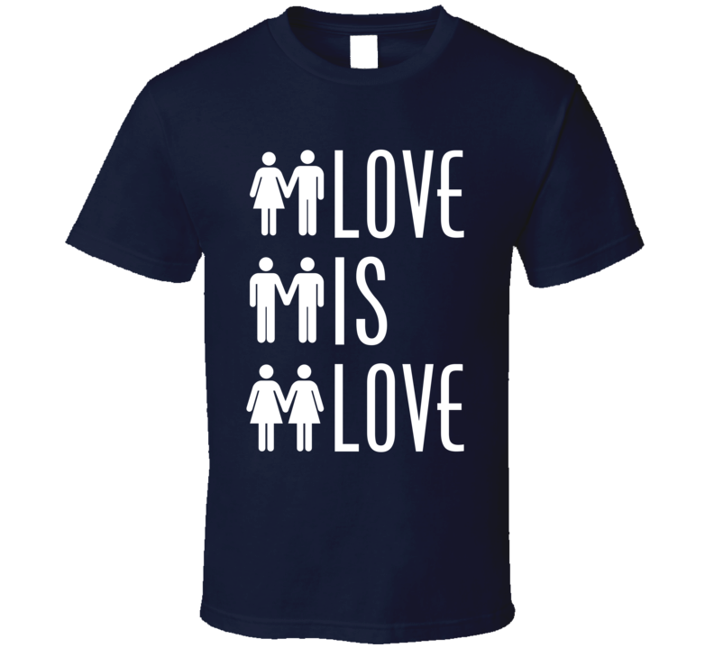 Love Is Love Men And Women Icons Straight Gay Lesbian LGBT Graphic Tee Shirt