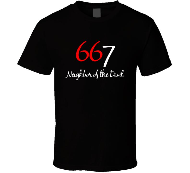 667 Neighbor Of The Devil Fun 666 Graphic T Shirt
