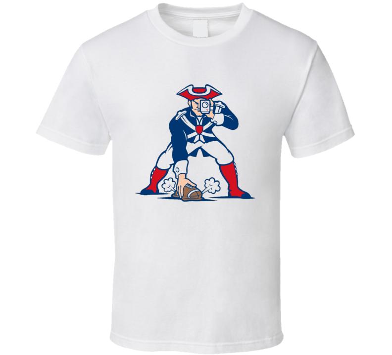 New England Football Funny Spy Gate Deflate Scandal Parody Graphic T Shirt
