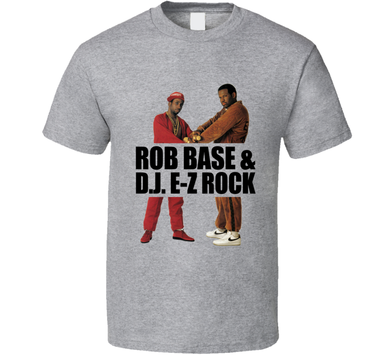 Rob Rase And DJ Ez Rock Fun Popular Vintage 80s Hop Hop Music Graphic T Shirt