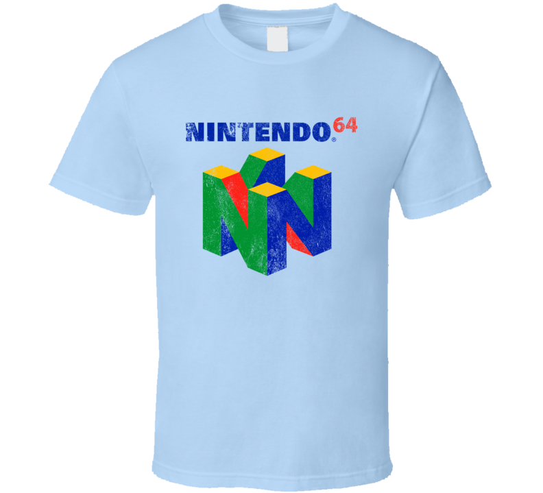Vintage Style Nintendo 64 Distressed Logo Fun Video Game Graphic T Shirt