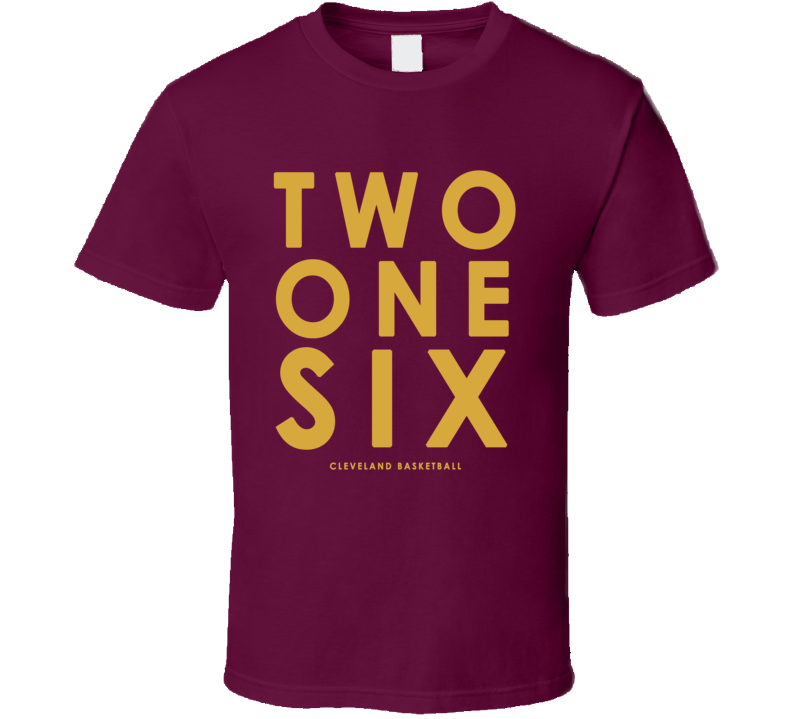 Two One Six Cleveland Basketball Area Code Popular Graphic Fan T Shirt
