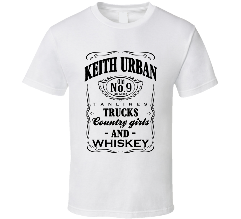 Keith Urban Tan Lines Trucks Country Girls And Whiskey Popular Graphic Music T Shirt